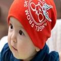 ht - cap 79 หมวกผ้ายืดสำหรับเด็ก สีแดง