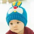 ht - cap 84B หมวกไหมพรมเด็กเล็ก กระต่ายน้อย สีฟ้า