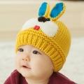 ht - cap 84Y หมวกไหมพรมเด็กเล็ก กระต่ายน้อย สีเหลือง