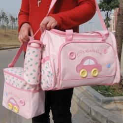 ms - bag 03 กระเป๋าคุณแม่ ใส่สัมภาระลูกน้อย สีชมพู